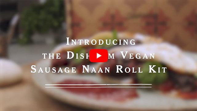 YouTube video for Vegan Sausage Naan Roll Kit