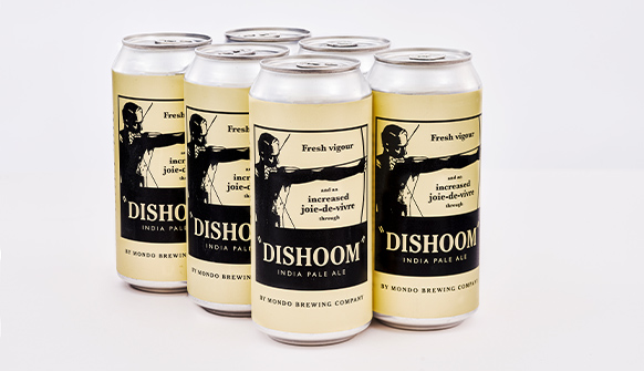 Six Cans of Dishoom India Pale Ale