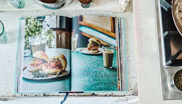 Dishoom From Bombay with Love Cookery Book open