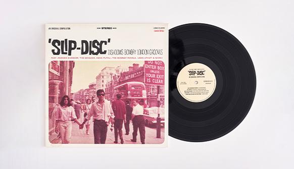 Dishoom Slip-Disc LP Vinyl and sleeve