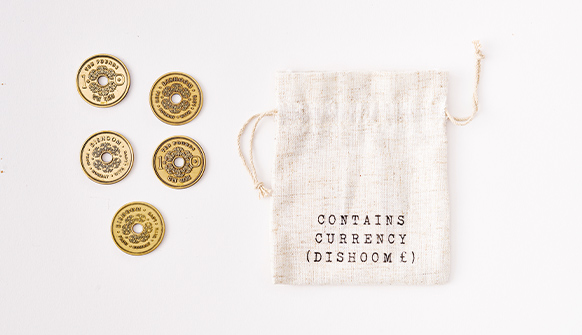 Dishoom Gift Coins with gift bag